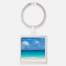 Tropical Beach View Cap Juluca Anguilla Keychains