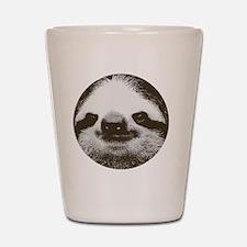 Circle sloth Shot Glass