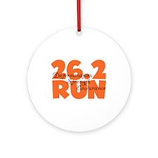 26.2 Run Orange Ornament (Round)
