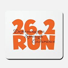 26.2 Run Orange Mousepad