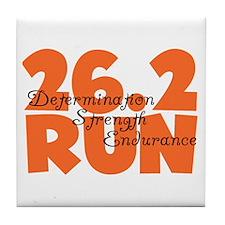 26.2 Run Orange Tile Coaster