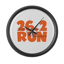 26.2 Run Orange Large Wall Clock