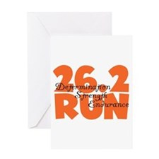 26.2 Run Orange Greeting Card