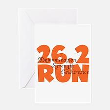 26.2 Run Orange Greeting Card