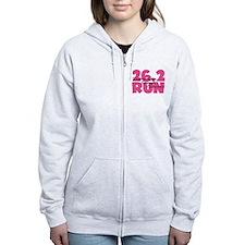 26.2 Run Pink Zip Hoodie