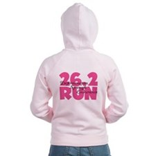 26.2 Run Pink Zip Hoody