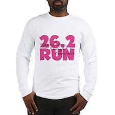 26.2 Run Pink Long Sleeve T-Shirt