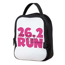 26.2 Run Pink Neoprene Lunch Bag