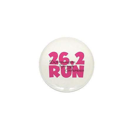 26.2 Run Pink Mini Button (10 pack)