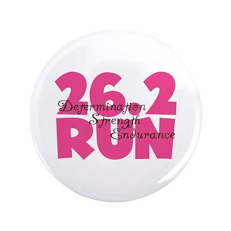 """26.2 Run Pink 3.5"""" Button"""