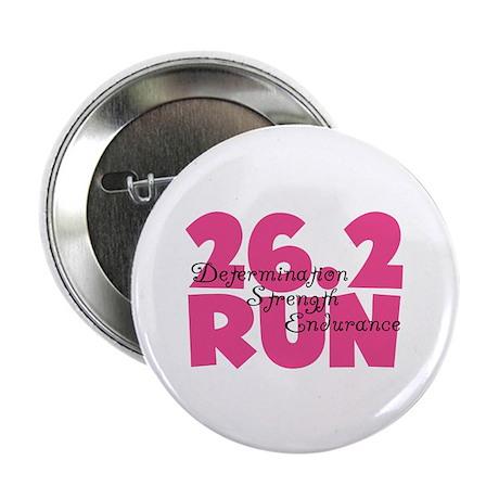 """26.2 Run Pink 2.25"""" Button (100 pack)"""