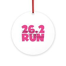 26.2 Run Pink Ornament (Round)