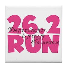 26.2 Run Pink Tile Coaster