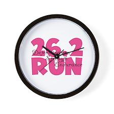 26.2 Run Pink Wall Clock