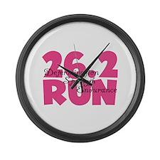 26.2 Run Pink Large Wall Clock