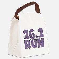 26.2 Run Purple Canvas Lunch Bag