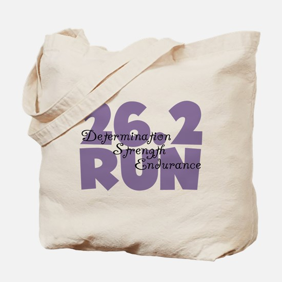 26.2 Run Purple Tote Bag