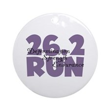 26.2 Run Purple Ornament (Round)