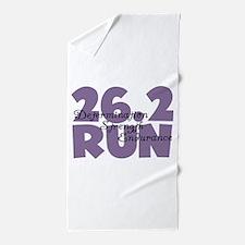 26.2 Run Purple Beach Towel