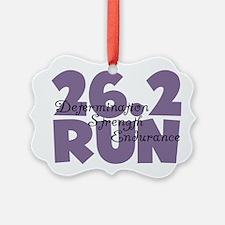 26.2 Run Purple Ornament