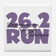 26.2 Run Purple Tile Coaster