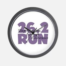 26.2 Run Purple Wall Clock