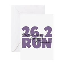 26.2 Run Purple Greeting Card