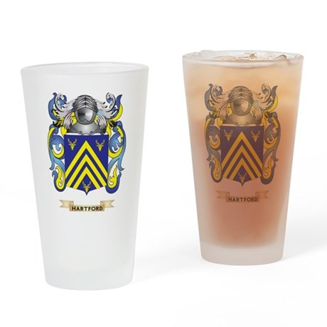 Hartford Coat of Arms (Family Crest) Drinking Glas