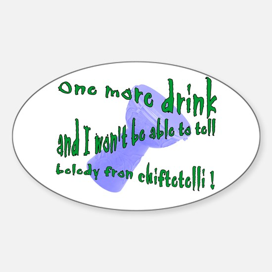drunk drummer/dancer Oval Stickers