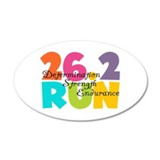 26.2 Run Multi-Colors Wall Sticker