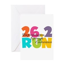 26.2 Run Multi-Colors Greeting Card