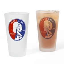 First Lady Coin Red White and blue Drinking Glass