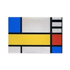 MONDRIAN 1 Rectangle Magnet