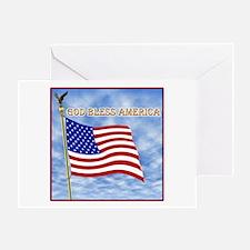 God Bless America 2 Greeting Card