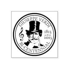 "GIUSEPPE VERDI BI-CENTENN Square Sticker 3"" x 3"""