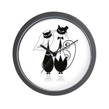 Wedding Cats Wall Clock