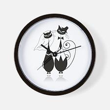 Wedding Cats Wall Clock