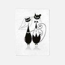 Wedding Cats 5'x7'Area Rug