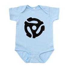 Black Distressed 45 RPM Adapter Infant Bodysuit