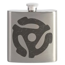 Black Distressed 45 RPM Adapter Flask