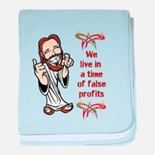 False Profits baby blanket