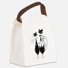 Wedding Cats Canvas Lunch Bag