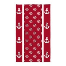 Dk Berry Red Ship's Wheels 3'x5' Area Rug