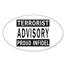 Terrorist Advisory Oval Decal