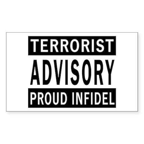 Terrorist Advisory Rectangle Sticker