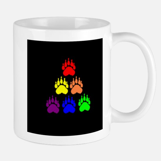 PYRAMID RAINBOW BEAR PAWS Mug