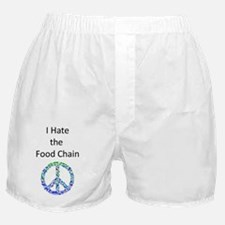 I Hate the Food Chain Boxer Shorts