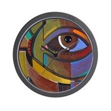 Abstract Self Portrait Wall Clock