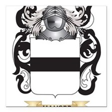 Hauser-2 Coat of Arms (Family Crest) Square Car Ma