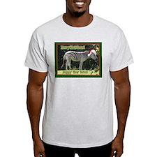Helaine's Zebra Christmas Ash Grey T-Shirt